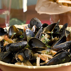 Steamed Mussels in a Tomato and Fennel Broth with Perfect French Fries