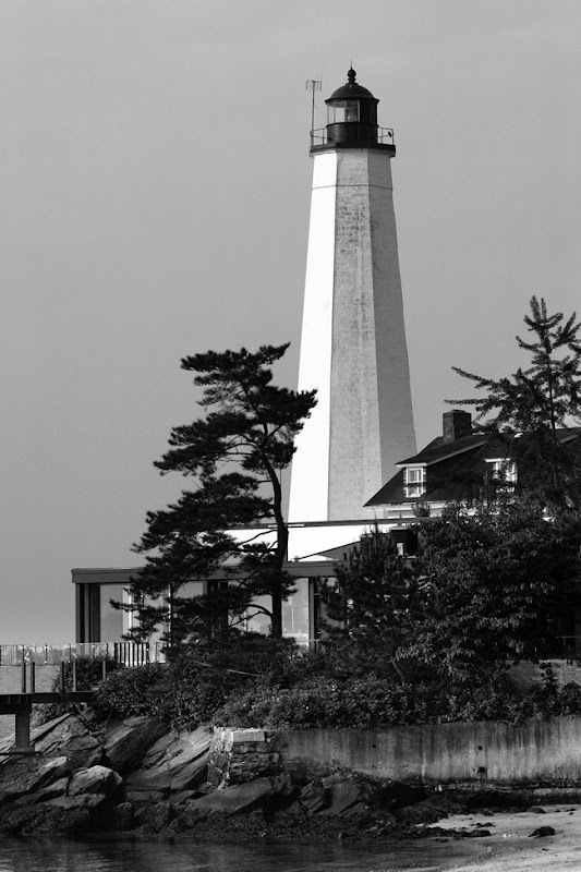 New London Lighthouse BW