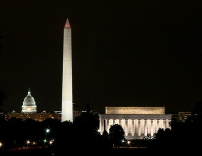 Lincoln - Washington - Capitol from Iwo Jima