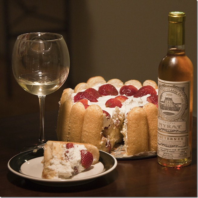 Twinkie Cake with 2003 Chateau de Myrat-2