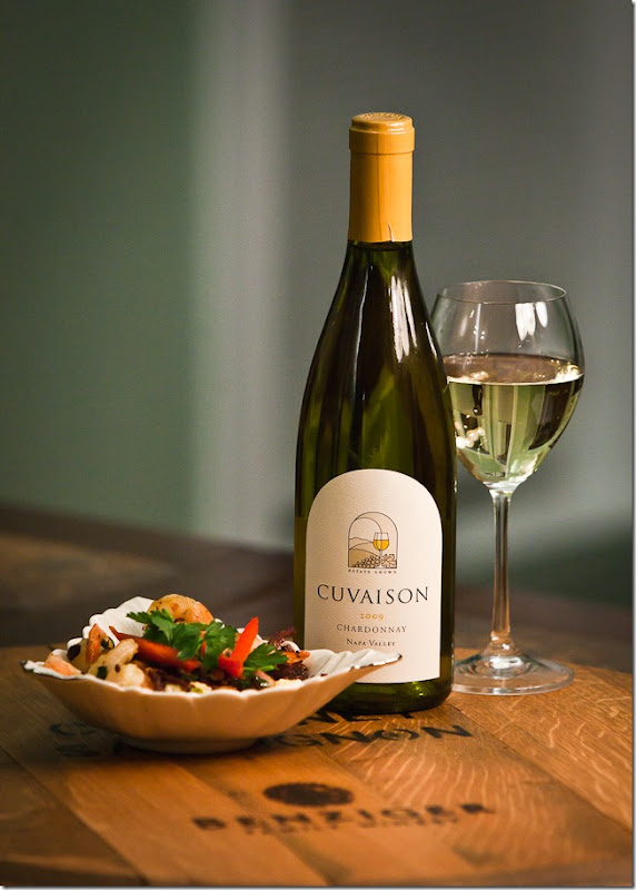 Shrimp and Grits with Cuvaison Chardonnay-1