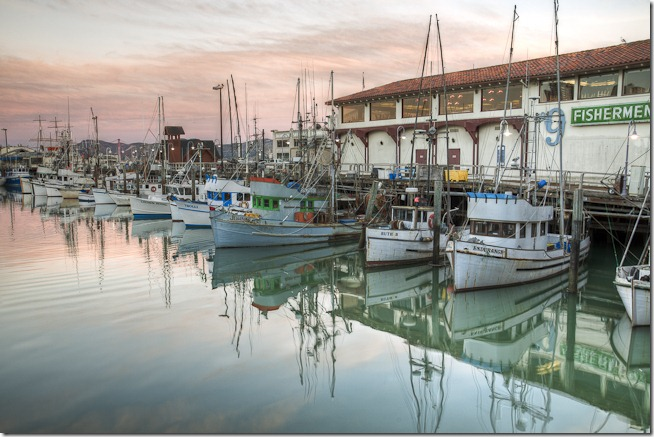 Boats at Fishermans Wharf San Francisco