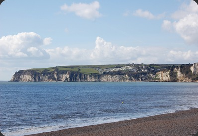 Looking over to Beer Head from Seaton beach.