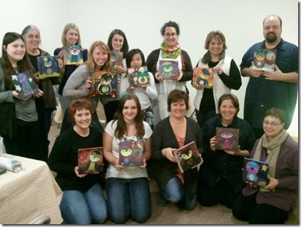 owl painting class