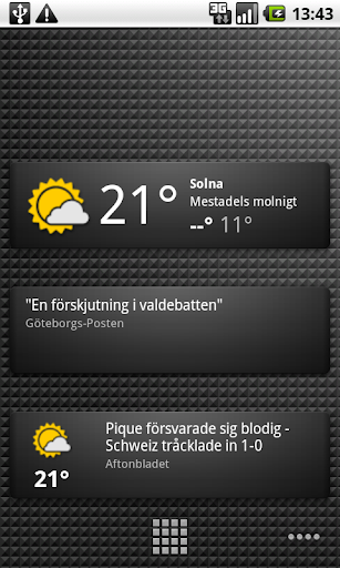 Weather &amp; News Widgets