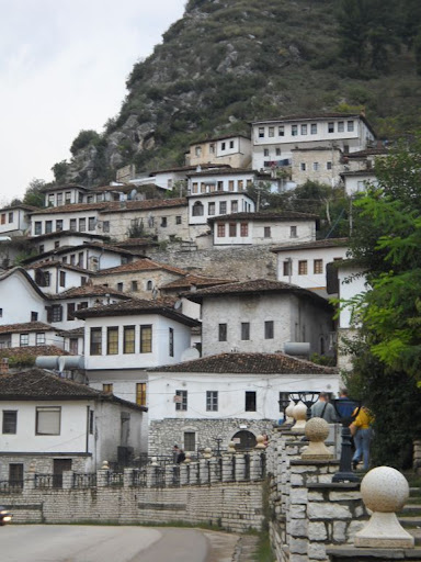 Traditional Albanian hill village at Berat, a couple of hours drive from Tirana.