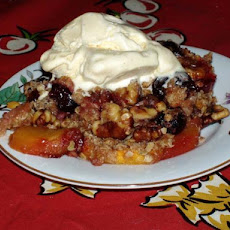 Nectarine Raspberry Crisp With Spiced Oatmeal Crumb Topping