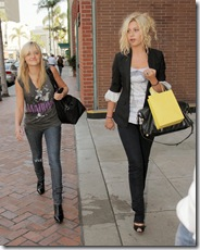 Alyson and Amanda Michalka Shopping in Beverly Hills
