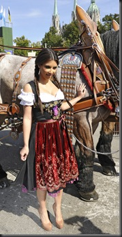 Kim Kardashian in Munich at Oktoberfest hottest cleavage 3