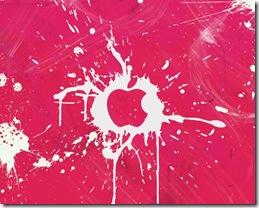 Pink Apple 1280x1024 advertising wallpaper