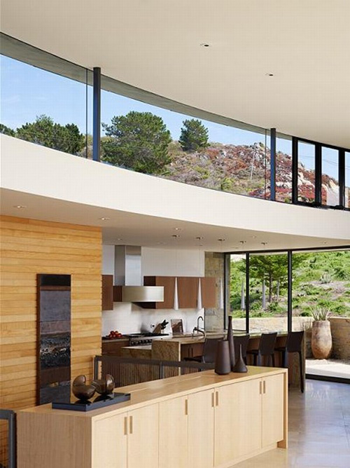 contemporary interior design in mountain house