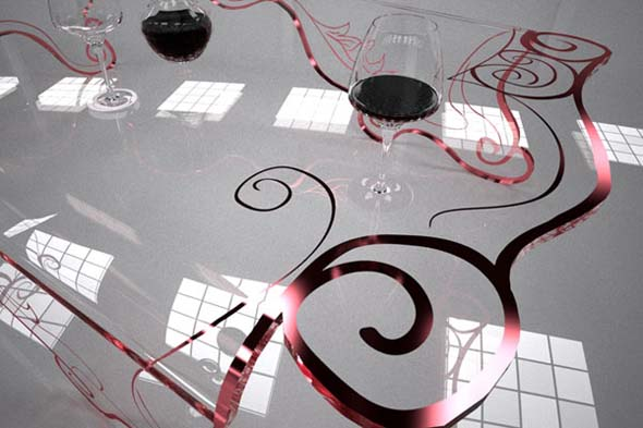 modern transparent table furniture design