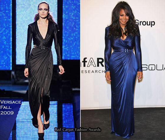 Janet Jackson's Versace Fall 2009 gown