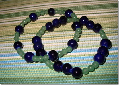 bracelets blue green