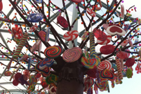 Candy tree outside candylicious