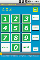 Screenshot of Multiplication Tutor