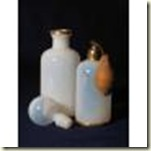 white opaline scent bottles