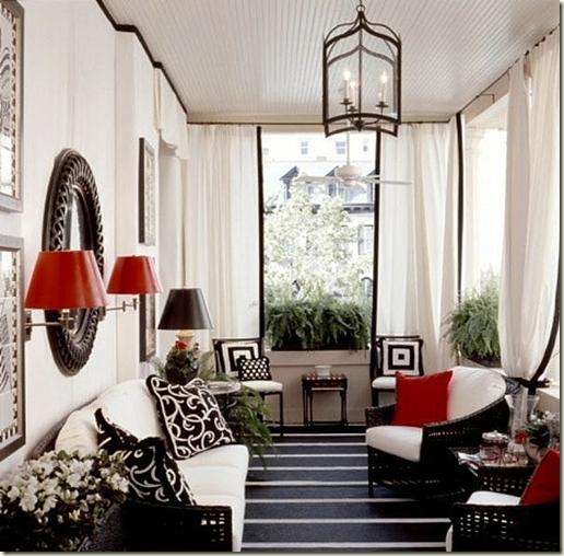 Interior Design Newton Ma Porch Drapes
