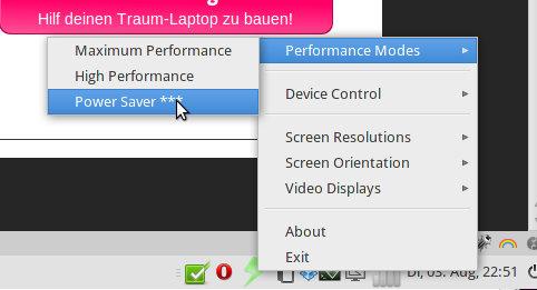 Jupiter-Applet auf Ubuntu-Laptop