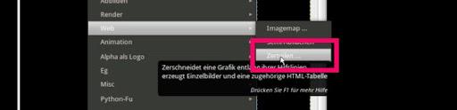 Gimp: Slcing-Filter