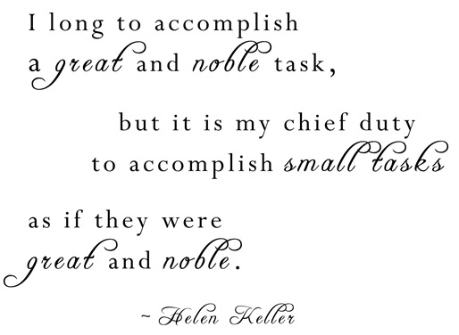 small tasks helen keller