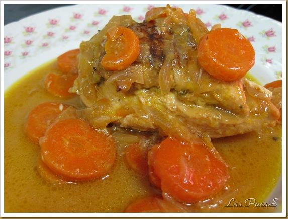 Pechugas de pollo con naranjas