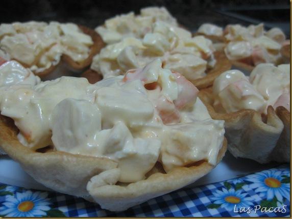 tartaletas de ensalada de palmitos