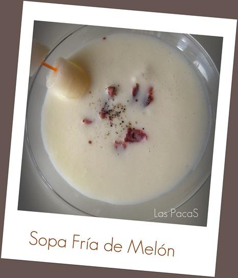sopa fría de melon