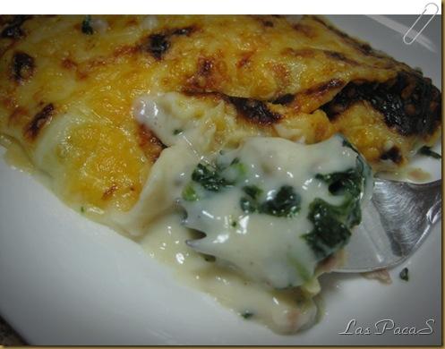 Espinacas gratinadas con jamón de york (2)