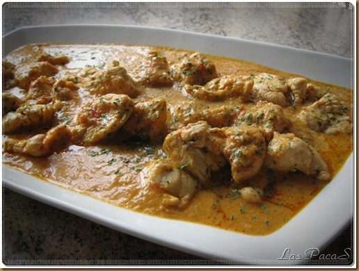pollo en salsa cremosa