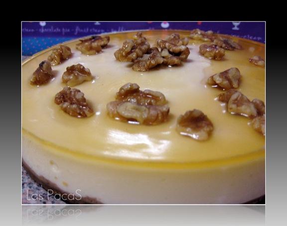 tarta cuajada con miel