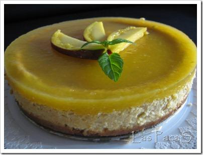 Tarta cheesscake de mango