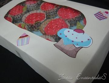 cupcakes ramo rosas