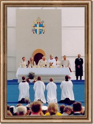 Papstmesse Senne Wandlung groß ausschnittRahmen