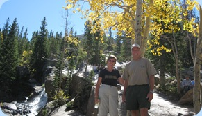 Rocky Mountain National Park Kevin & Evelyn at Alberta Falls