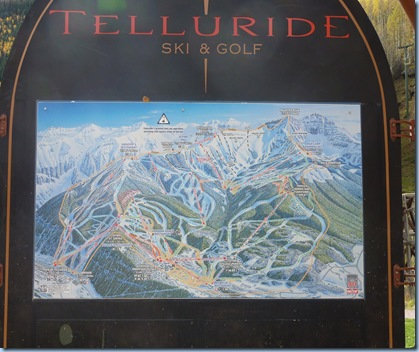 Colorado Telluride Ski Map