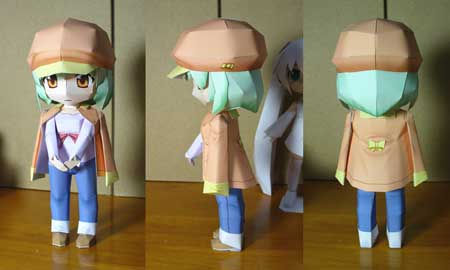 Bakemonogatari Papercraft - Nadeko Sengoku