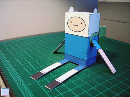 Adventure Time Paper Toy Finn