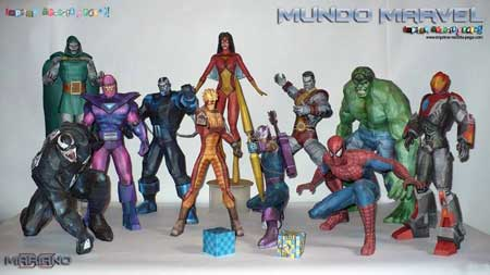 Marvel Comics Papercraft
