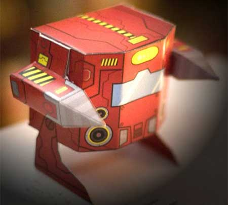BorBot Paper Toy