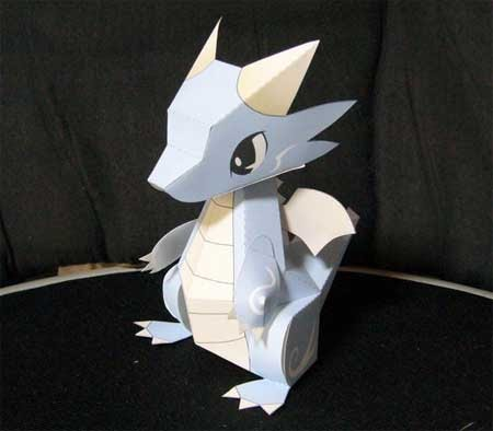 Water dragon papercraft free papercraft for Cardboard dragon template