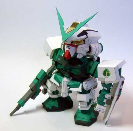 Gundam Astray Green Frame Papercraft