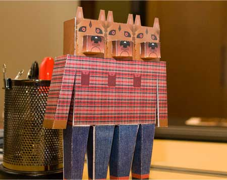 Triple Dog Papercraft