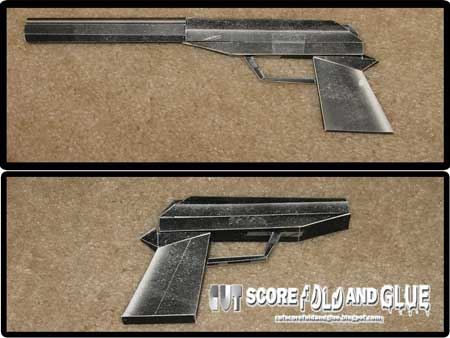 GoldenEye Silenced PP7 Papercraft