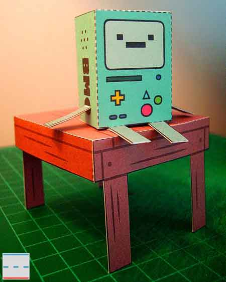 Adventure Time Beemo Papercraft