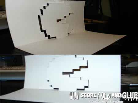 Pacman Pop-up Card