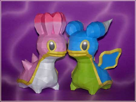 Pokemon Shellos Papercraft