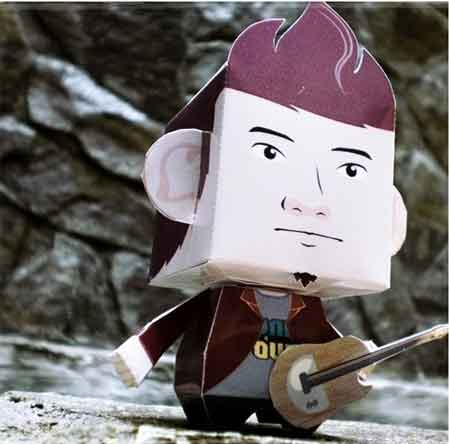 Mr Chokie Paper Toy