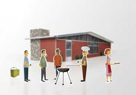 Sunday Barbecue Papercraft