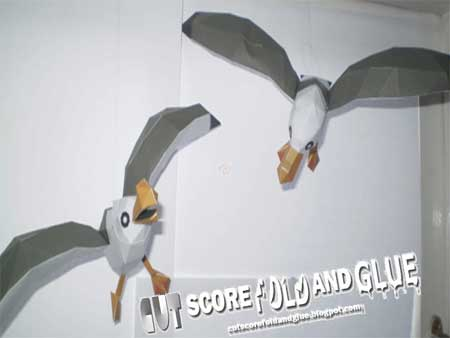 Wind Waker Seagull Papercraft